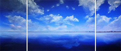 Infinite Horizons of Lake Eyre, Acrylic on linen, by Metka Skrobar