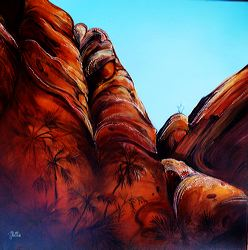 The Bungle Bungles, acrylic on linen, by Metka Skrobar